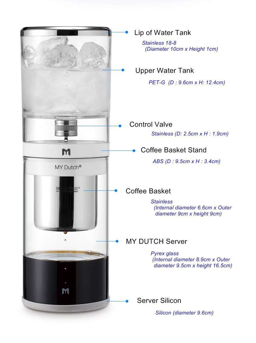 Cold Drip Coffee Maker Korea : BEANPLUS MY DUTCH Cold Brew Water Drip Dutch Home coffee maker (550ml) Korea