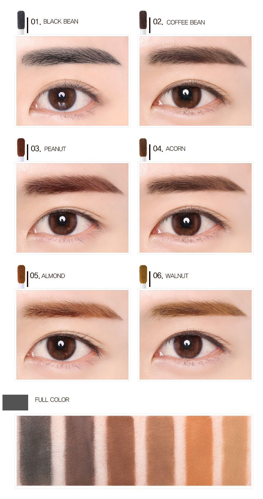 Beauty People Waterproof Capsule Powder Multi Brow Tint 1g Korean