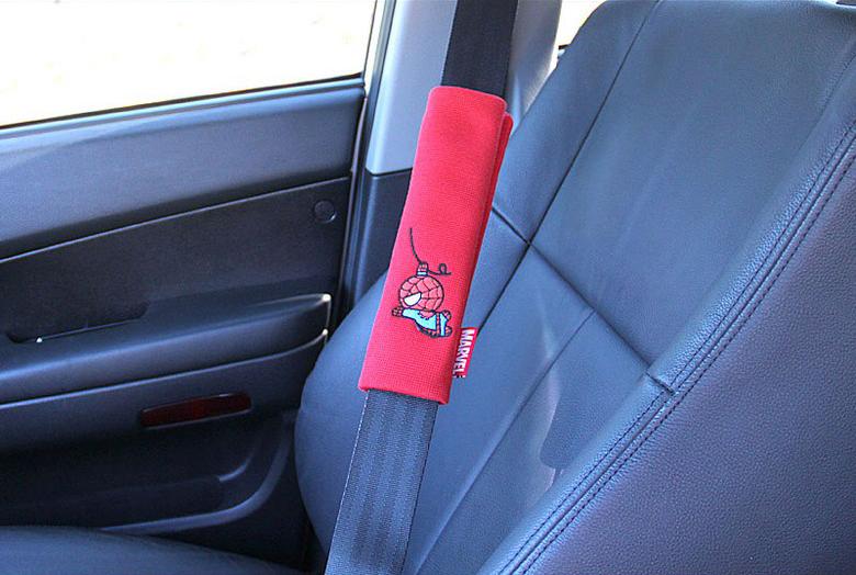 Marvel Car Soft Safety Seat Belt Cover Shoulder Pad Spider Man
