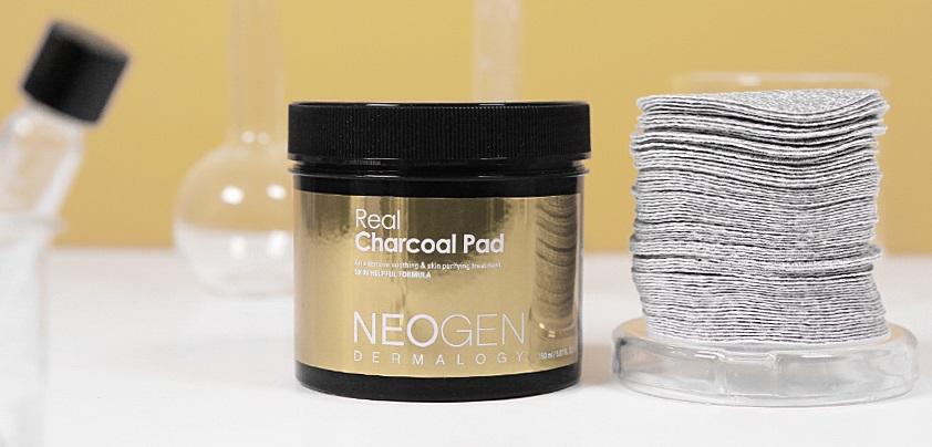 Neogen Dermatology Real Charcoal Peeling Pad (150ml) Gause, Cotton,  Exfoliation, Korea Cosmetic, K Beauty