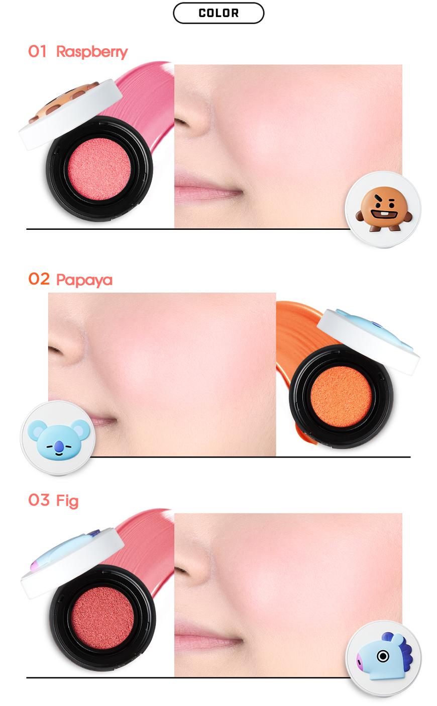 Details about VT Cosmetics BT21 Cheek Cushion 6g 0 21 oz BTS Cosmetics