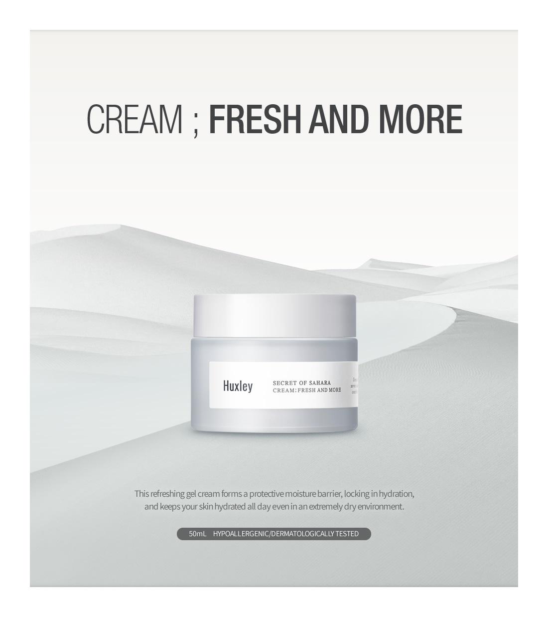 Huxley Secret Of Sahara Cream FRESH AND MORE (50ml 1.69 oz) Korea Cosmetic  8809422531756   eBay