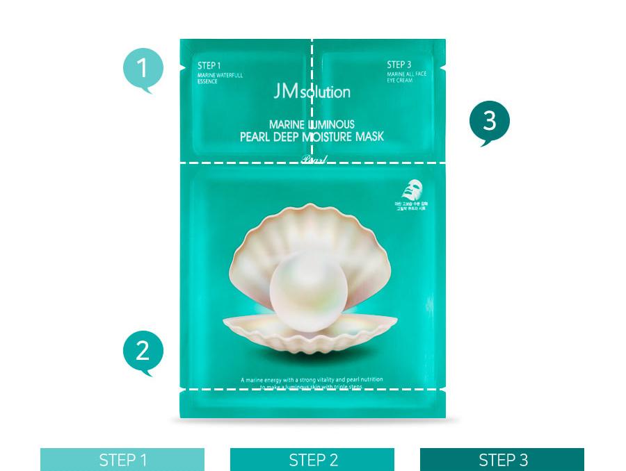 JMsolution Marine Luminous Pearl Deep Moisture Mask 10 sheets (3 ...