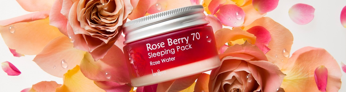 LANGSRE Rose Berry 70 Sleeping Pack Rose Water