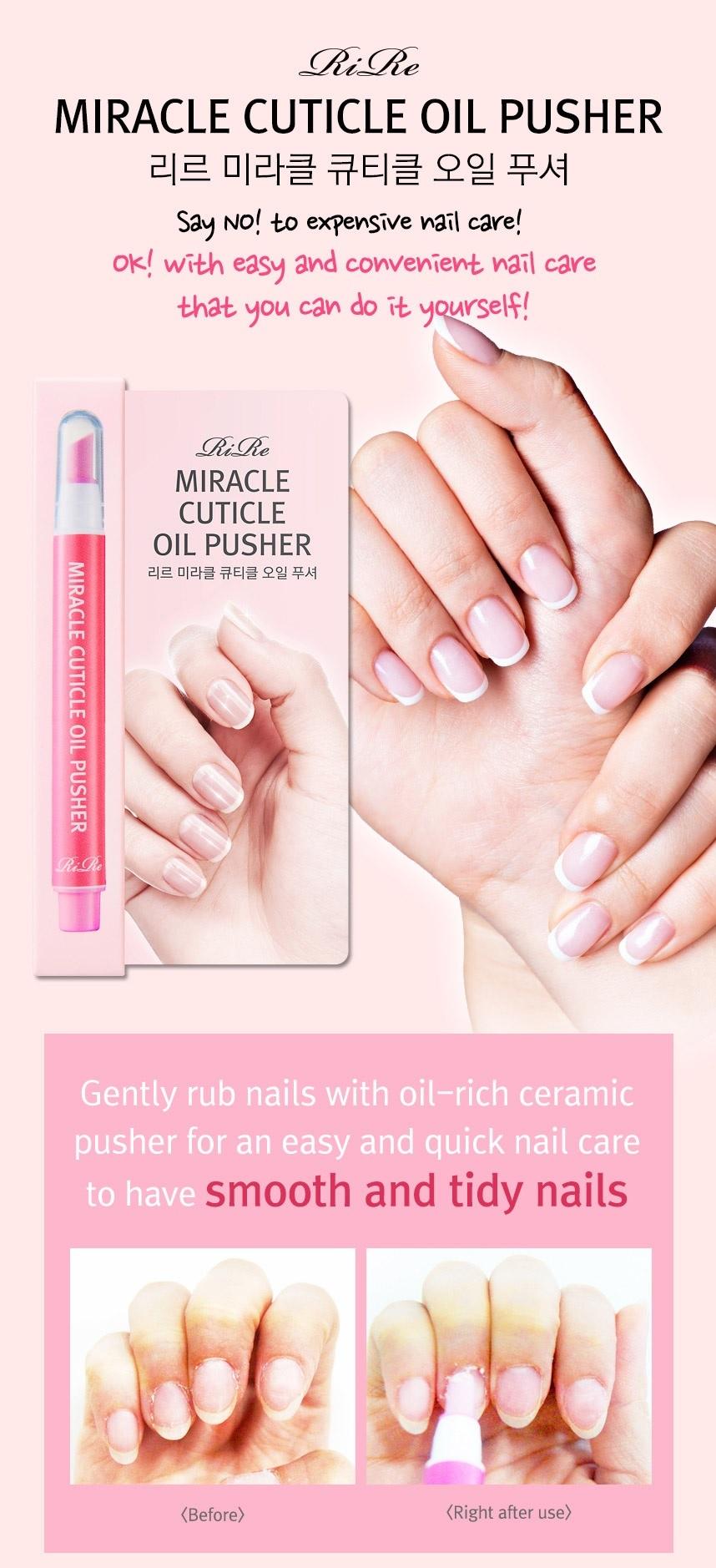 Rire Miracle Nail Shines Nail Polisher, Cuticle Oil Pusher | eBay